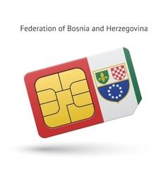 Federation of bosnia and herzegovina phone sim vector