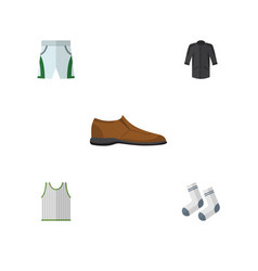 Flat icon garment set of trunks cloth foot vector