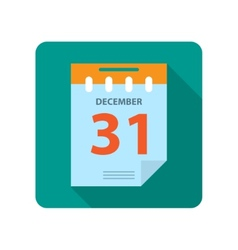 Flat new year calendar vector image