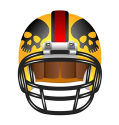 Football helmet with skul vector