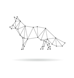 Geometric fox design silhouette vector image