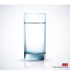 Glass with water on white background vector image vector image