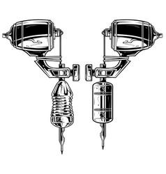 Graphic black and white tattoo machine set vol 11 vector