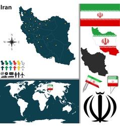 Iran map world vector image vector image