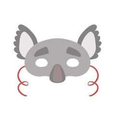Koala bear animal head mask kids carnival vector