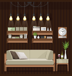 living room classic style vector image vector image