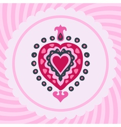 Love heart decorative invitation vector image vector image