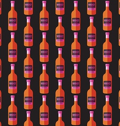 pop art whiskey bottle seamless pattern vector image