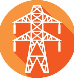 Power line icon vector