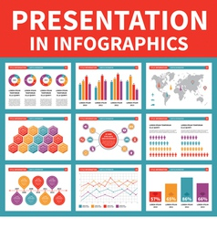 Presentation in Infographic - vector image vector image
