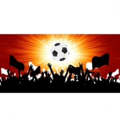 soccer fans vector image vector image