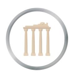 Turkish ruins icon in cartoon style isolated on vector