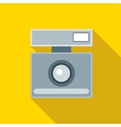 Retro photo camera icon flat style vector