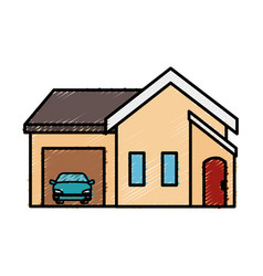 Exterior house isolated icon vector