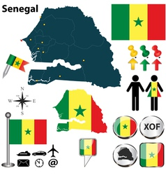 Senegal map vector