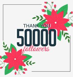50000 online followers social media achievement vector