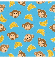 Monkey wallpaper pattern vector
