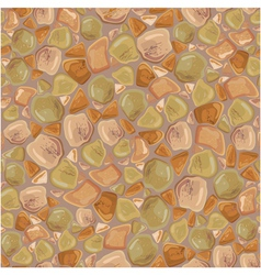 Seamless pattern - stones background in brown and vector