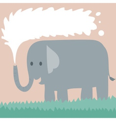 Elephant on grass vector