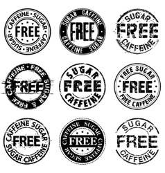 Free sugar and aspartame round stamps vector