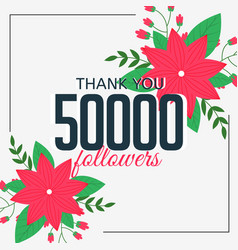 50000 online followers social media achievement vector