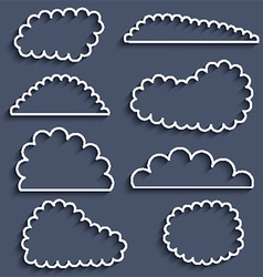 Cloud icons 0605 vector