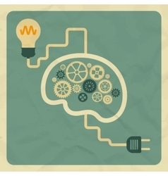 Innovation concept brain light bulb vector
