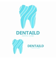 Dental clinic logo healthy tooth logo vector