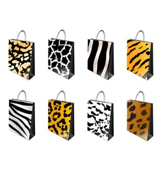 Animal print shopping bag vector