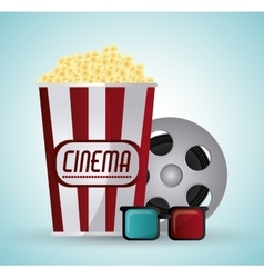 Cinema and movie design vector