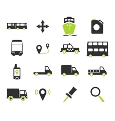 Navigation simply icons vector