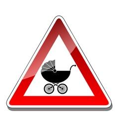 A warning sign baby vector