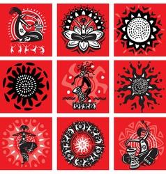 ethnic motifs vector image
