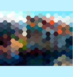 Abstract hexagon landscape background vector