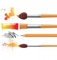 art brushes vector image