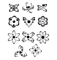 Atoms or molecules symbols vector image vector image