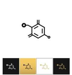 Chemical formula structure icon vector