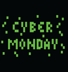 Cyber monday - pixel styled banner background vector