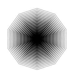 Decagon halftone geometric shapes seven vector