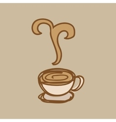 delicious coffee design vector image vector image