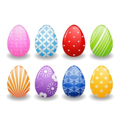 Easter eggs with patterns vector image vector image