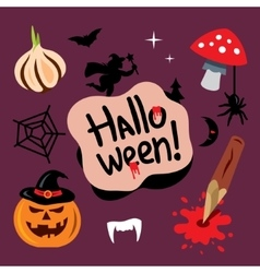 Halloween symbols cartoon vector