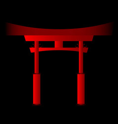 Japanese tori gate vector