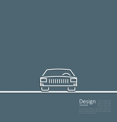 Logo of car front side in minimal flat composition vector