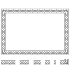 Modular frame bis vector image vector image