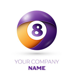 Number eight symbol in the colorful circle vector
