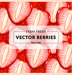 Organic farm fruit square banner vector