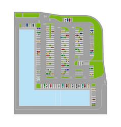 Parking elements vector