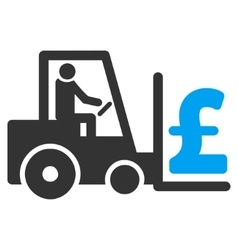 Pound money warehouse flat icon symbol vector