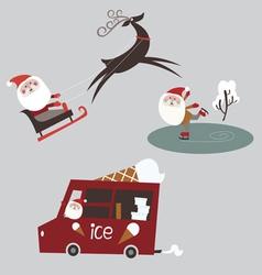 Santa cartoons vector image